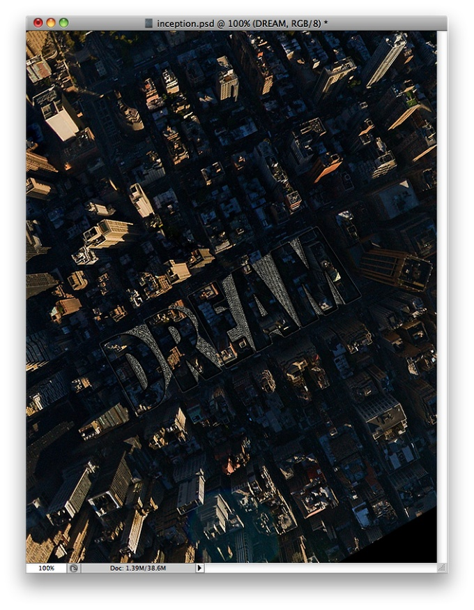 Inception Poster with Repousse in Photoshoc CS5