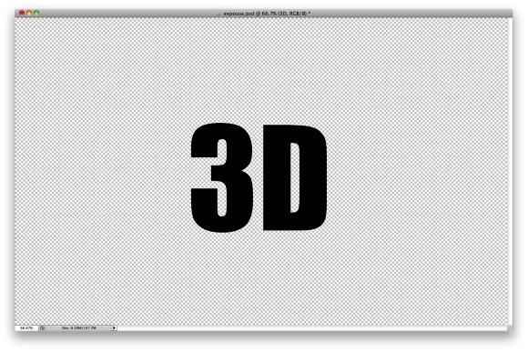 3D Type with Repoussé in Photoshop CS5 Extended