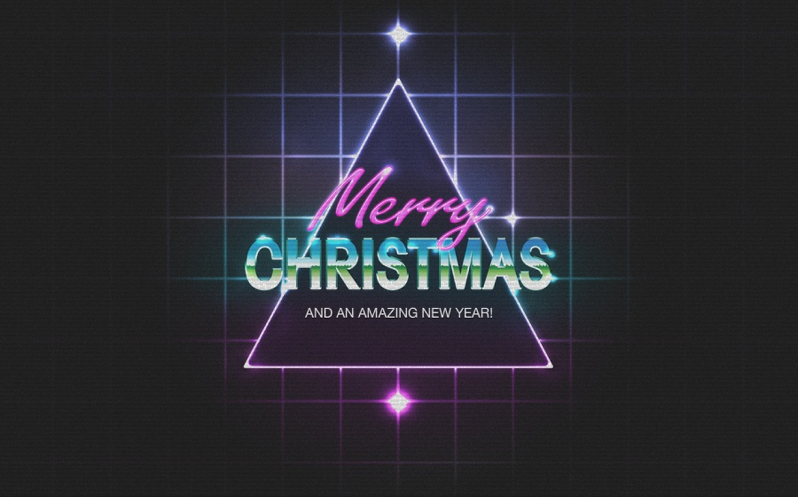 80s Christmas Artwork in Photoshop