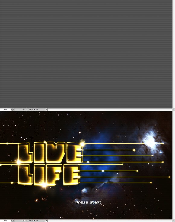 Amazing Video-Game Text Style in Photoshop