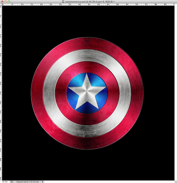 Captain America Shield in Photoshop