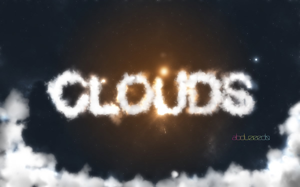 Image of a step from the Photoshop Quick Tips #6: Cloudy Text