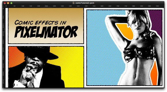 Comic effects in Pixelmator