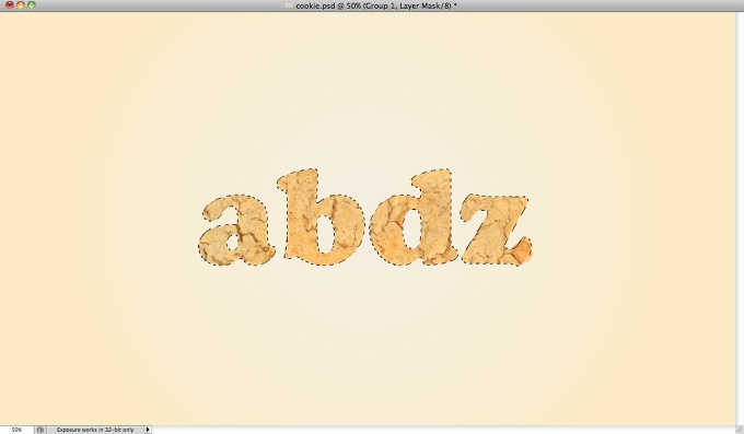 Yummy Cookies Typography in Photoshop