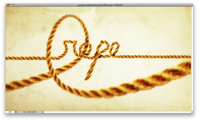 Cool Text Effect with the Puppet Warp Tool in Photoshop CS5