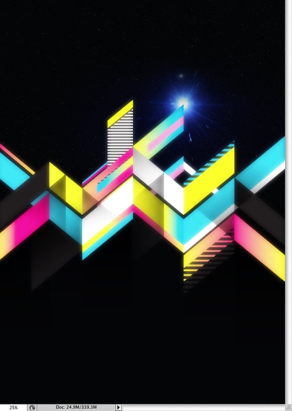 Crazy Geometric Vectors in Space with Illustrator and Photoshop
