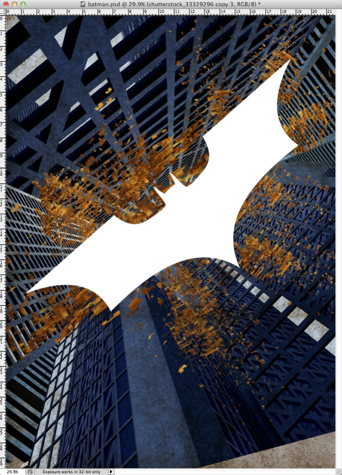 Dark Knight Rises Poster in Photoshop