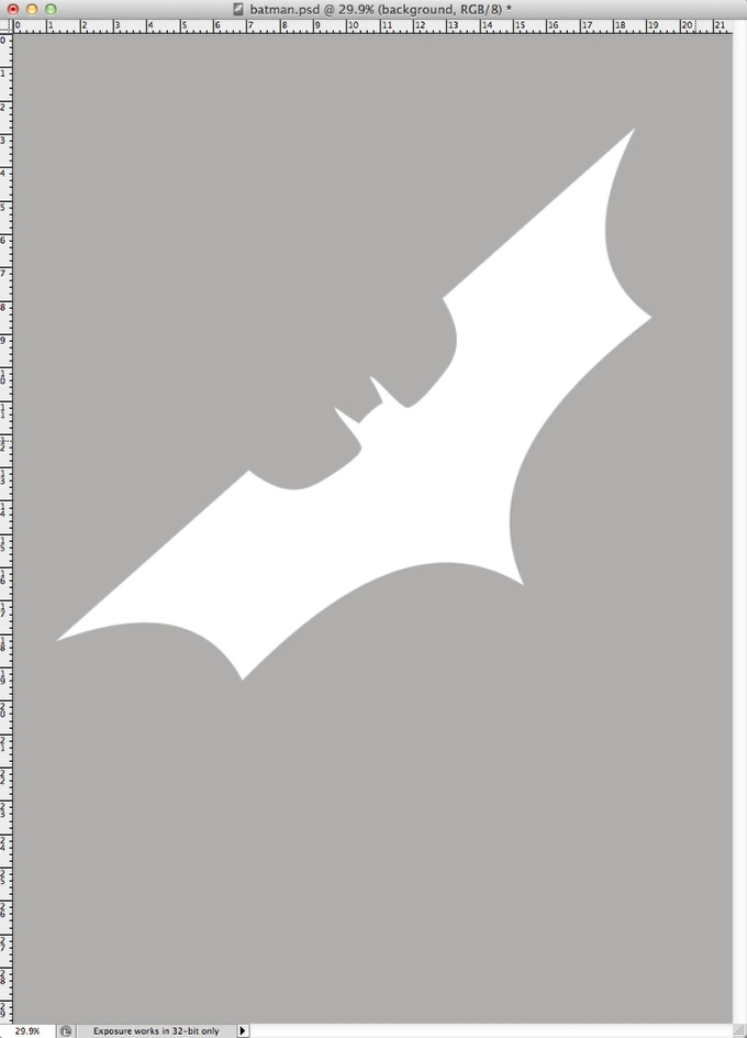 Step 2 - Dark Knight Rises Poster in Photoshop