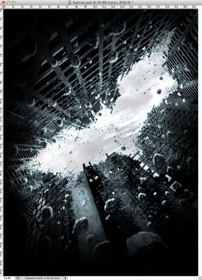 Step 26 - Dark Knight Rises Poster in Photoshop