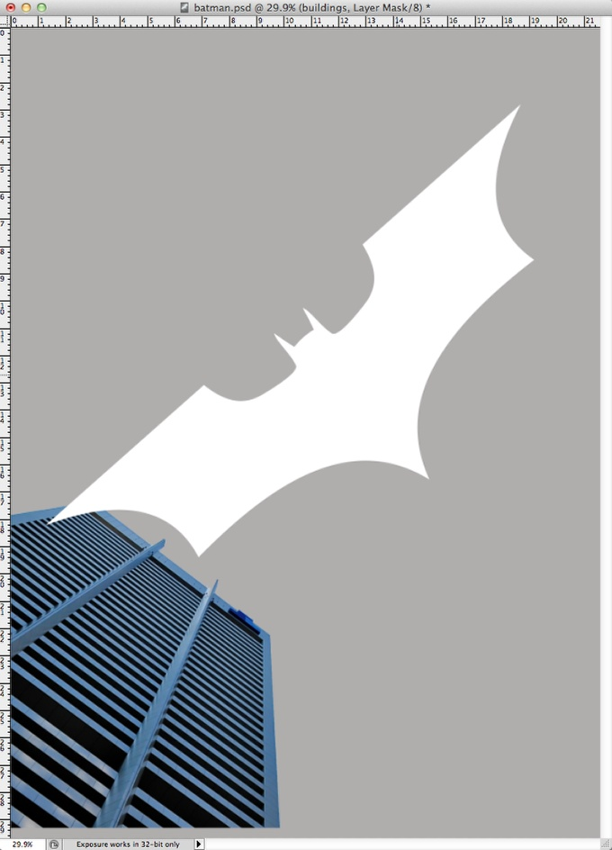 Step 3 - Dark Knight Rises Poster in Photoshop