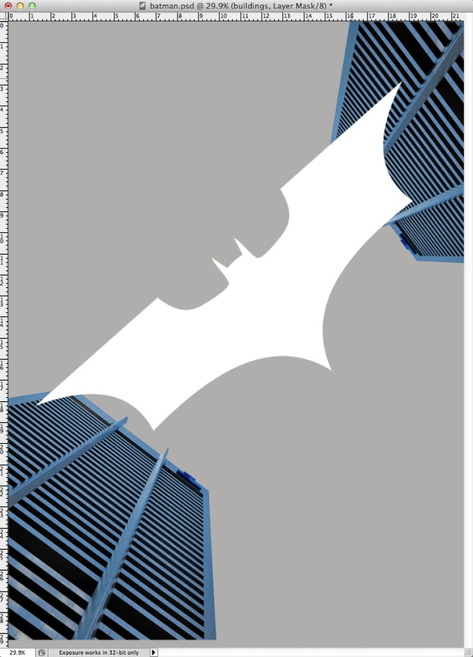 Step 4 - Dark Knight Rises Poster in Photoshop