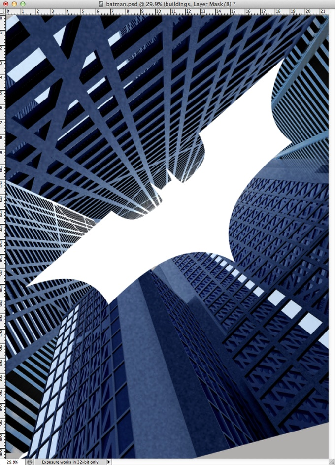 Step 5 - Dark Knight Rises Poster in Photoshop