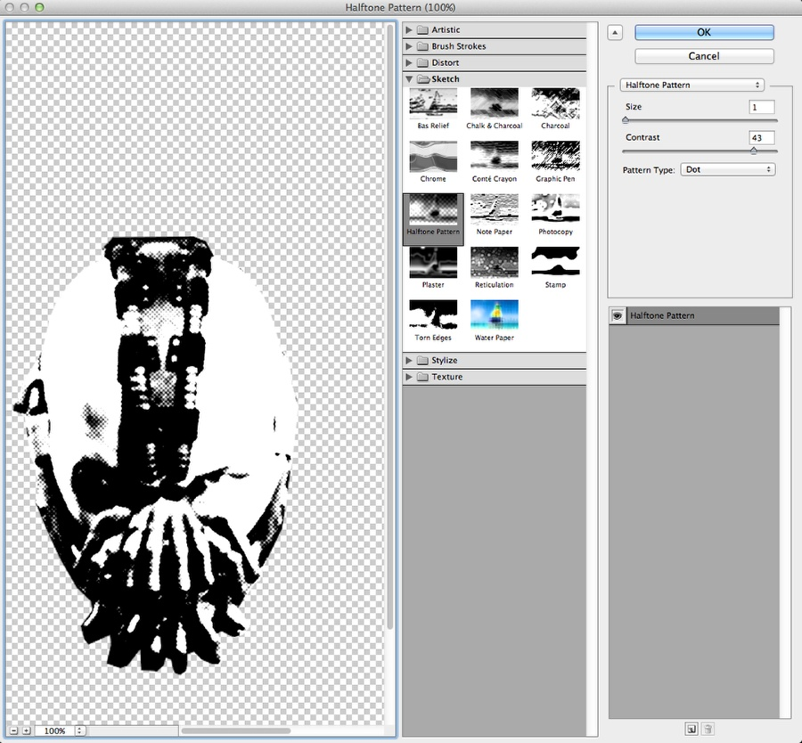 Dark Knight Rises Stencil Effect in Photoshop