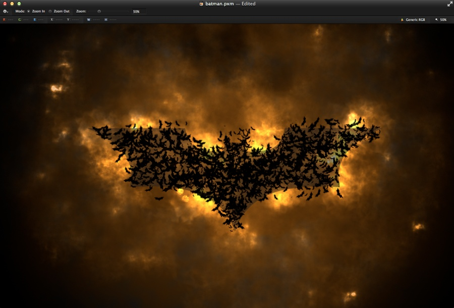 Dark Knight in Pixelmator