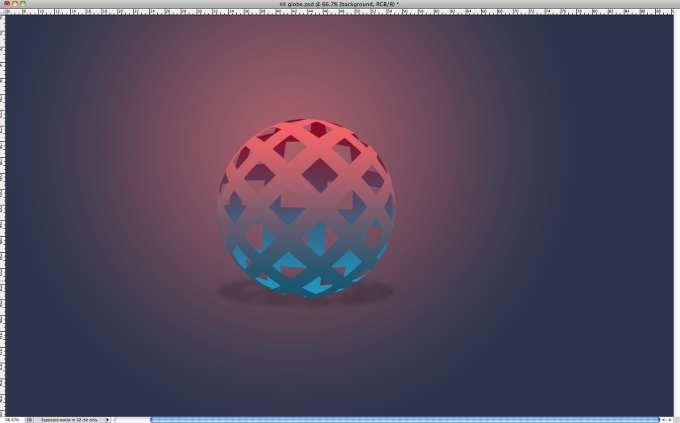 Easy 3D Globe in Photoshop