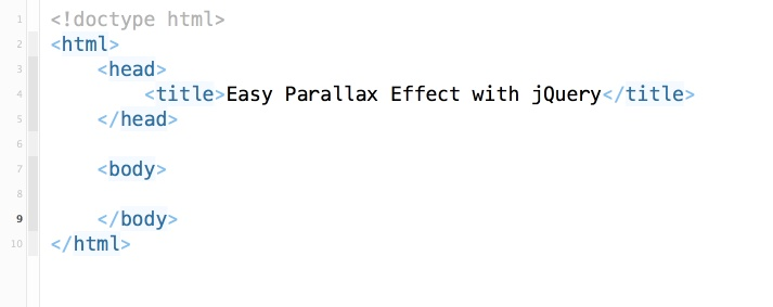 Super Easy Parallax Effect with jQuery