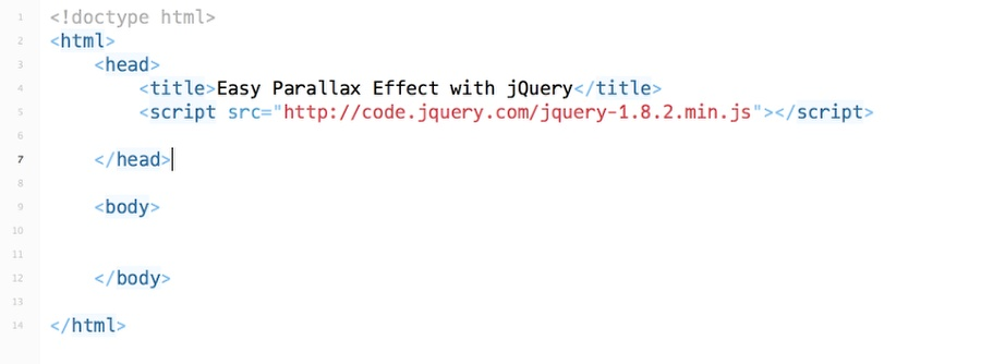 Easy Parallax Effect with jQuery