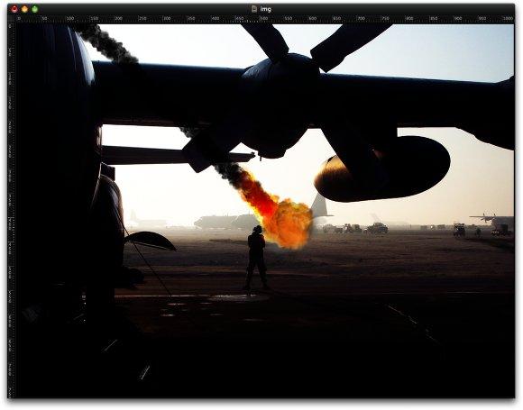 Fiery Fireballs in Pixelmator 1.4