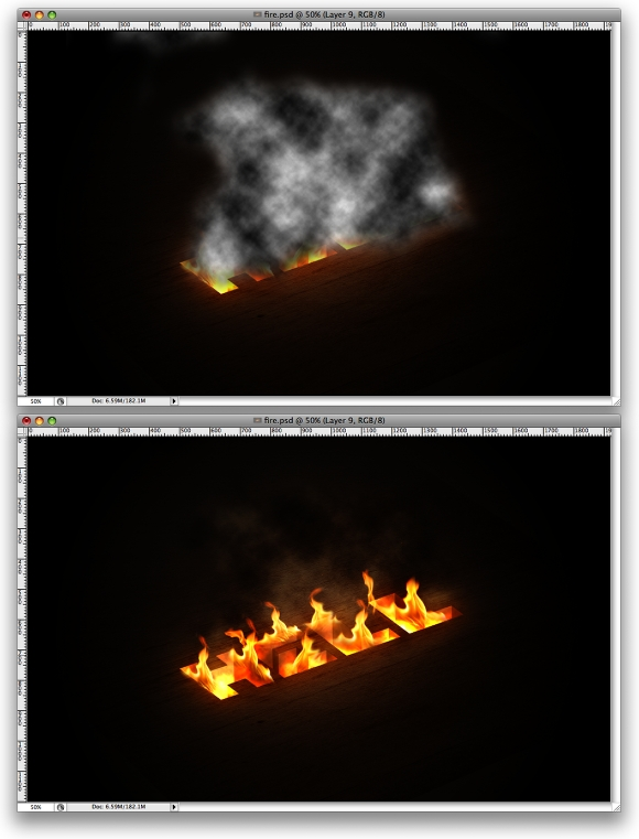Photoshop Zone: Fire Text Effect photoshop cs6