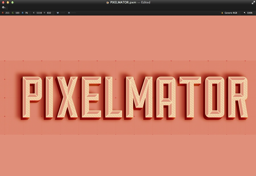 Hipster Text Effect in Pixelmator