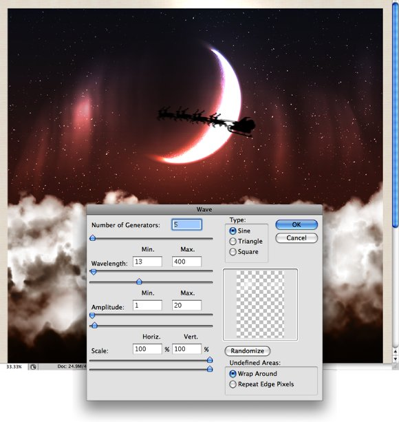 Beautiful Fluffy Clouds in Photoshop - Christmas Tutorial