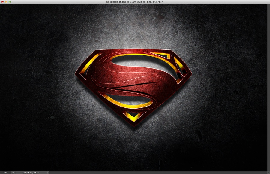 Man of Steel Symbol in Illustrator & Photoshop