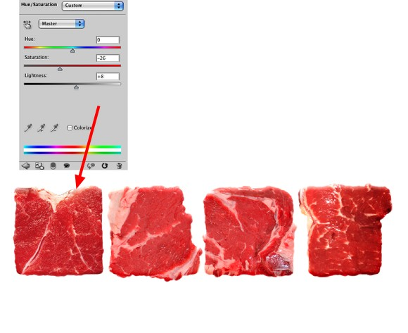 Image from the Meat Text Effect in Photoshop