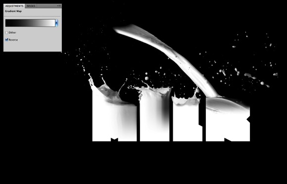 Image from the Milk Typography Effect in Photoshop Tutorial