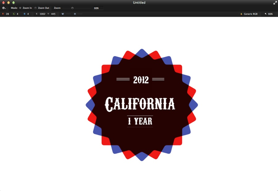 Nice Vintage Badge in Pixelmator