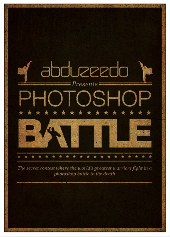 Photoshop Battle Poster in Illustrator