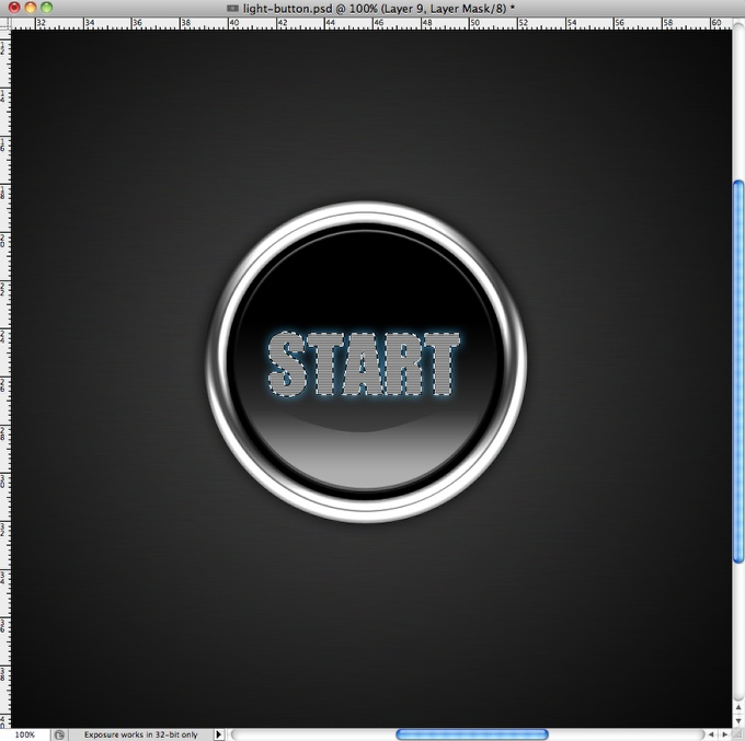 Photoshop Quick Tip: Light Effect Text Button