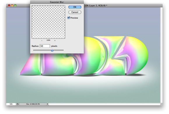 Playing with Inflate in Repoussé in Photoshop CS5 Extended