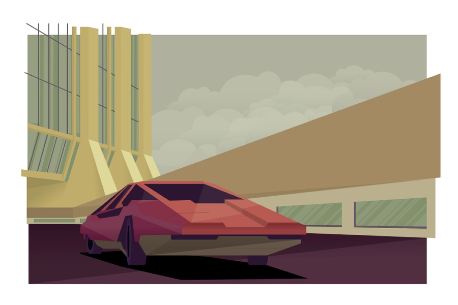 Retro Futuristic Artowrk in Illustrator and Photoshop