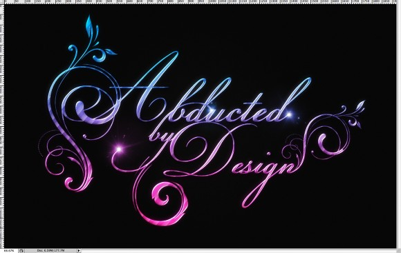 Shiny Caligraphy Text Effect in Photoshop