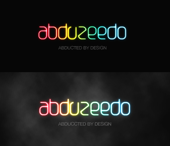 Shining Neon Text Effect in Photoshop