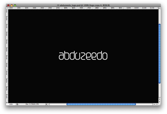 Step 2 - Shining Neon Text Effect in Photoshop