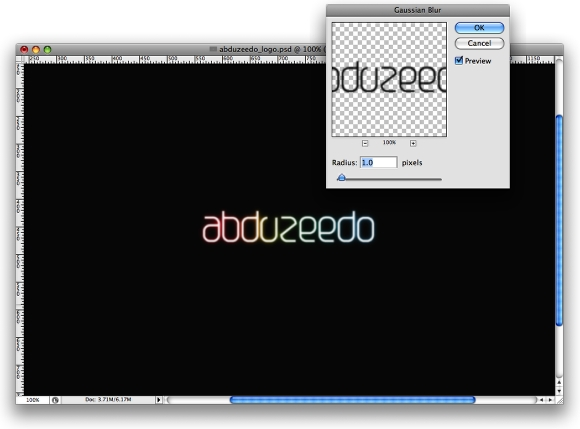 Step 5 - Shining Neon Text Effect in Photoshop