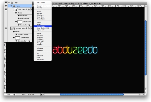 Step 7 - Shining Neon Text Effect in Photoshop