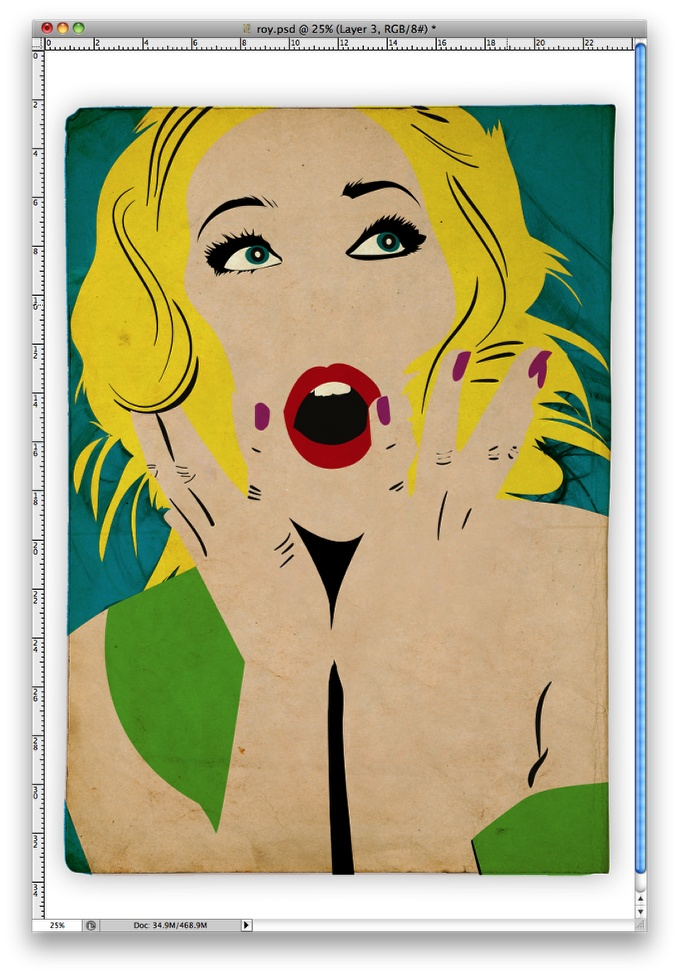 Simple Roy Lichtenstein Style in Illustrator and Photoshop