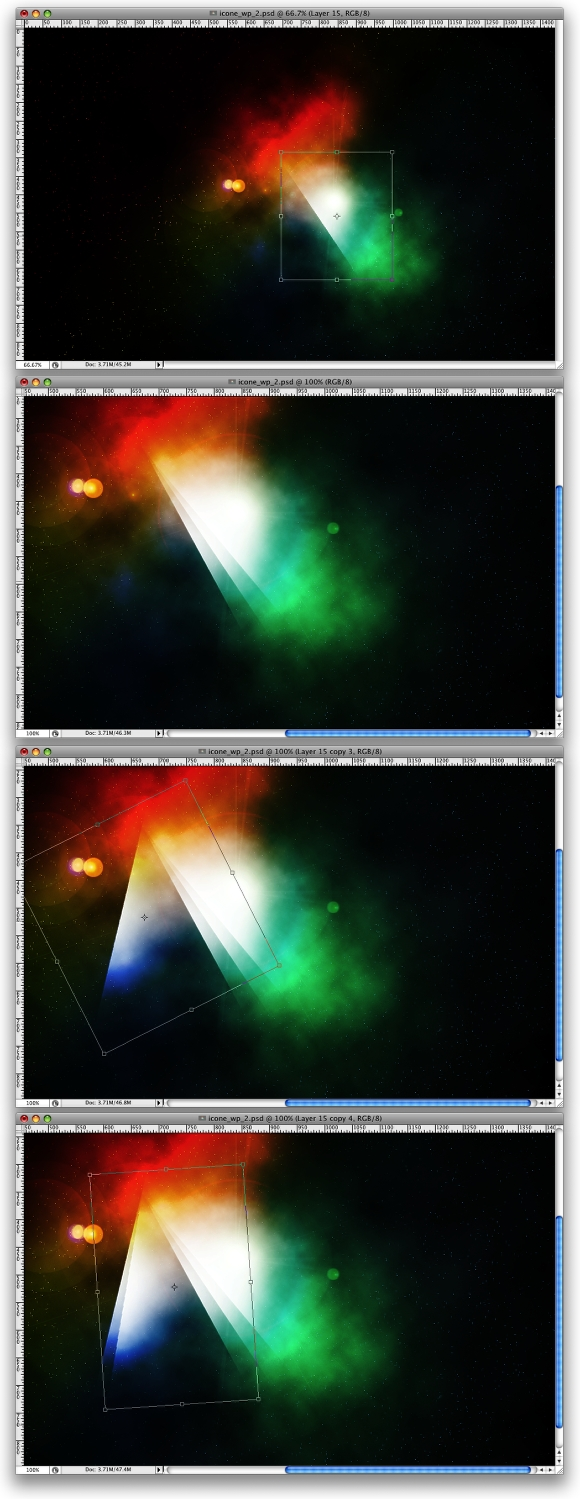 Space Lighting Effects in Photoshop | Abduzeedo - abducted by design