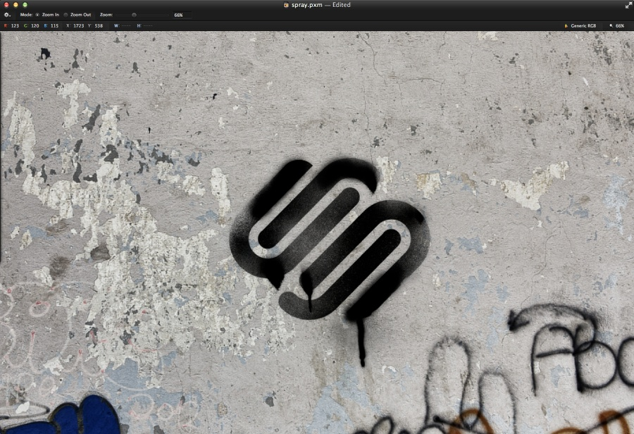 Graffiti Stencil Effect in Pixelmator