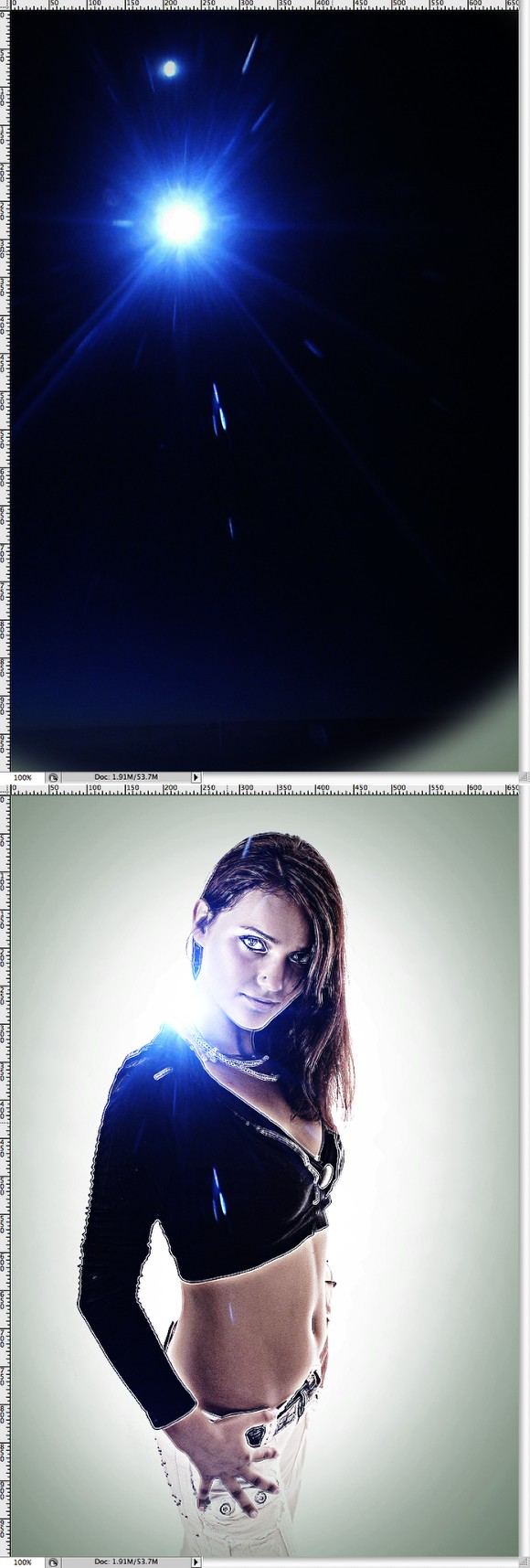 Stylish Light Effect in Photoshop