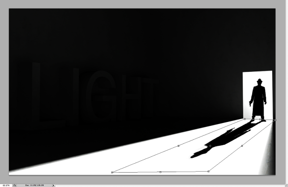 Image of a step of the Stylish Light in Cinema 4D and Photoshop Tutorial