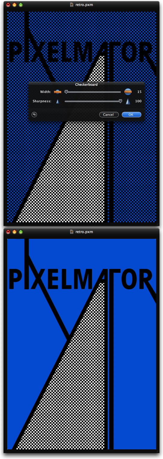 Stylish Retro Poster in Pixelmator