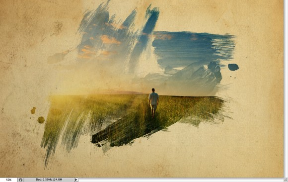 Image from the Super cool watercolor effect in 10 steps in Photoshop tutorial