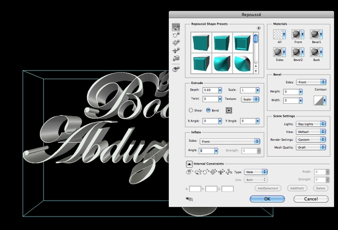 Vintage 3D Typography in Photoshop with Repoussé