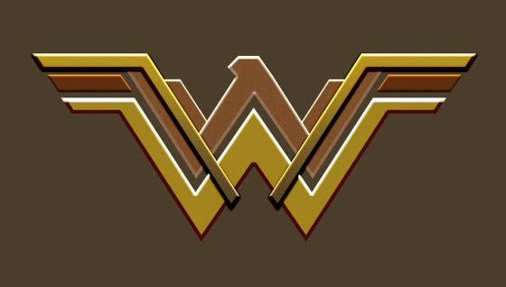 how to draw wonder woman logo step by step