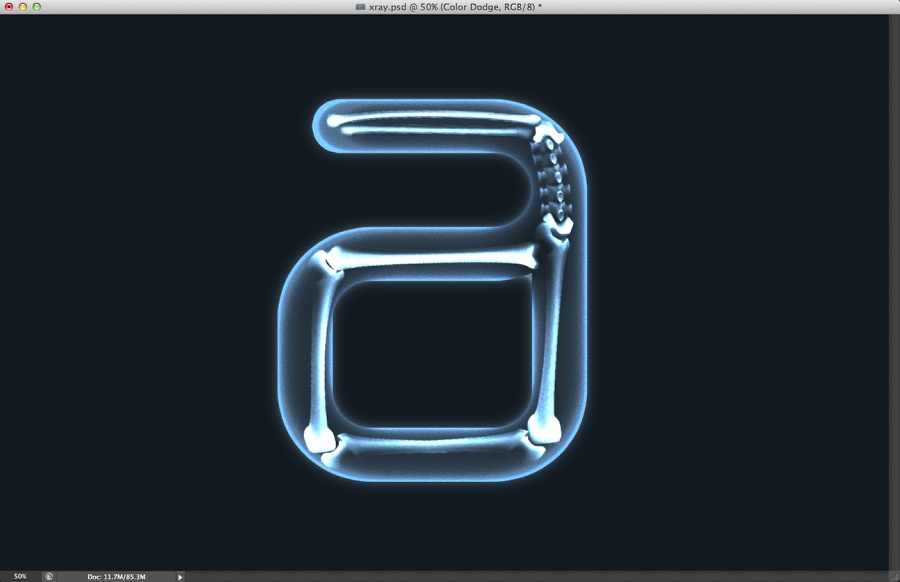 X-Ray Typography in Photoshop