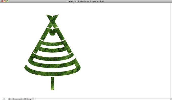 Xmas Tree Typography in Photoshop