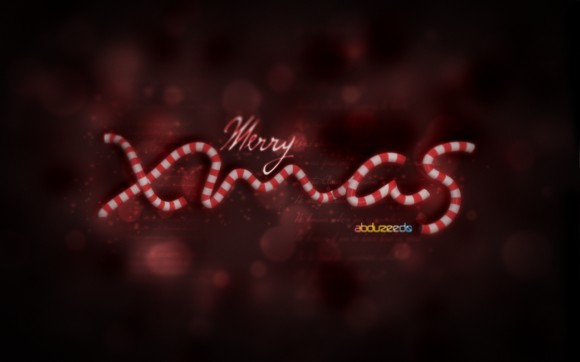 Xmas Wallpaper in Cinema 4D and Photoshop